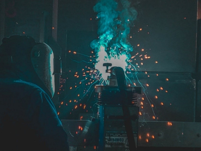 Firefly Welder taking their welder qualification test
